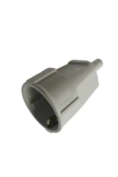 Műanyag (Thermoplast) csatlakozó aljzat, törésgátlóval, szürke, 519534