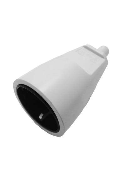 PVC csatlakozó aljzat, törésgátlóval, szürke, 519856