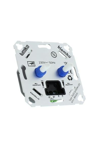 Univerzális DUO fényerőszabályzó 230V, 2x 100W LED, IP20, 891200