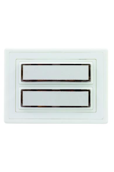 Csengő nyomógomb névtáblával 2-es fehér világítással