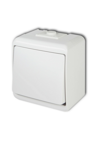 Aquastar 1 pólusú kapcsoló, IP54, fehér