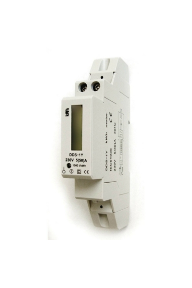 1 pólusú digitális almérő DIN sínre, szürke
