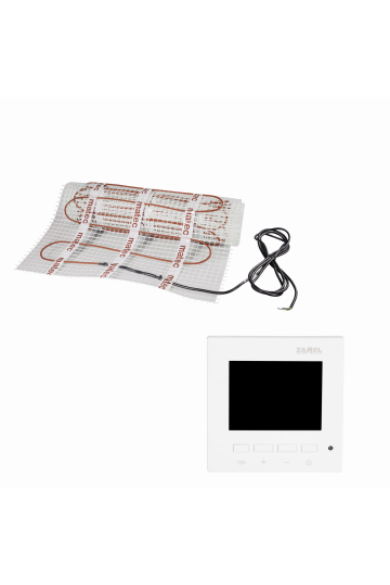 MATEC Fűtőszőnyeg szett, egyoldali betáplálás, 1,5m2, RTP-01 digitális LCD kijelzős termosztáttal: Zamel ZOJ-15 150W/m2