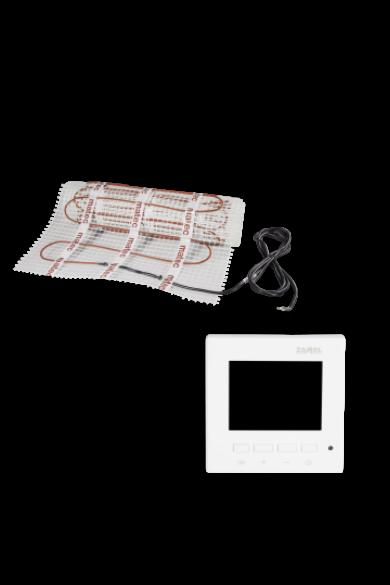 MATEC Fűtőszőnyeg szett, egyoldali betáplálás, 2,5m2, RTP-01 digitális LCD kijelzős termosztáttal: Zamel ZOJ-25 150W/m2