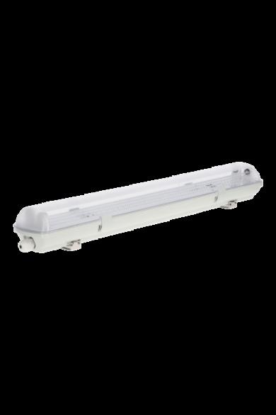 19-000-01 Por és páramentes LED lámpatest, 2x60W, IP65