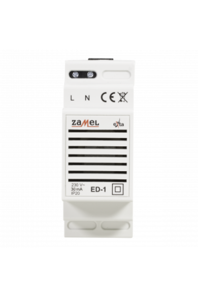 Jelzőkészülék; 230VAC; IP20; 85dB, Jelzés: csengő, ED-1