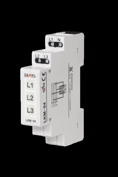Feszültségjelző 230/400V, sárga/zöld/piros LED, LKM-04-40