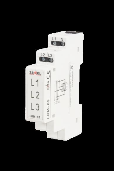 Feszültségjelző 230/400V, sárga/zöld/piros LED, LKM-05-40