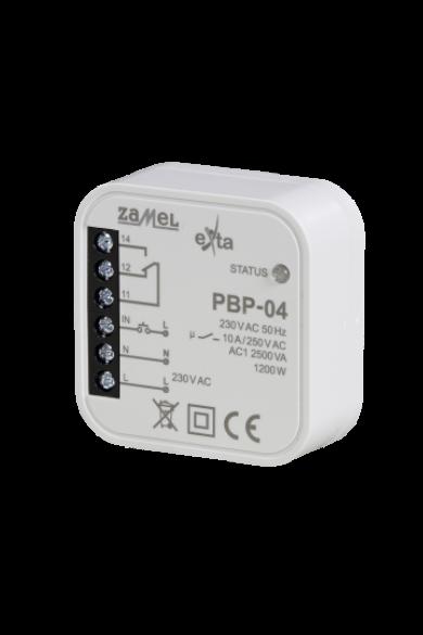 Bistabil relé, 230V AC, 10A, kötődobozba szerelhető, PBP-04