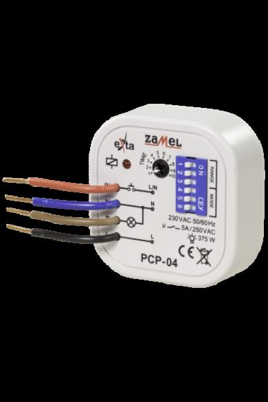 Időrelé,programozható, kötődobozba szerelhető, 230V AC, PCP-04