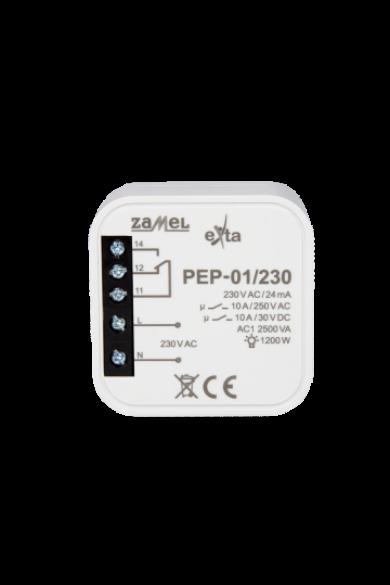 Hálózati elektromágneses relé, 230V AC, 10A, PEP-01/230
