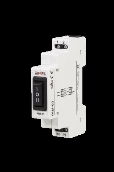 Háromállású kapcsoló relé, 230V, 10A, PIM-03