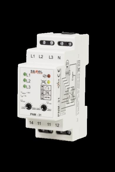 Feszültség felügyeleti relé, 3 fázisú, 230V/400V AC, PNM-31