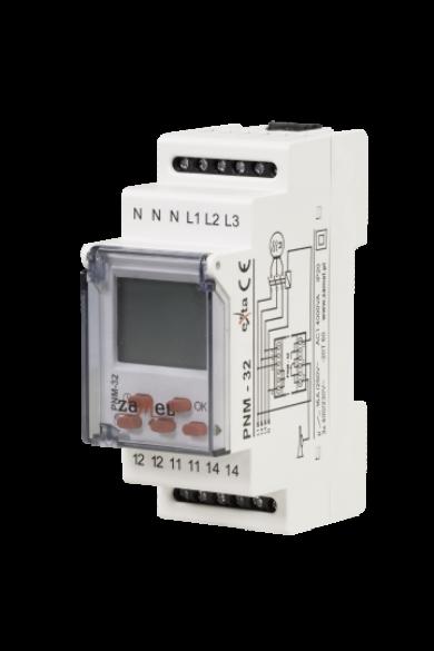 Feszültség felügyeleti relé, 3 fázisú, 16A, 230V/400V AC, PNM-32