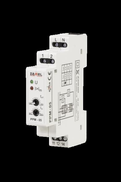 Terhelésleválasztó relé, 230V AC, 0,5-5A, PPM-05/5
