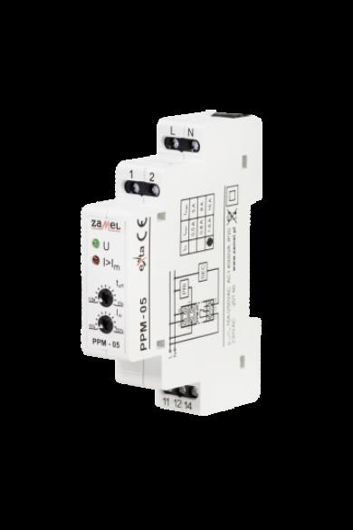 Terhelésleválasztó relé, 230V AC, 1,6-16A, PPM-05/16