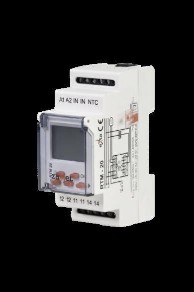 Hőmérséklet szabályzó relé, 5-60°C, 230V AC, RTM-20