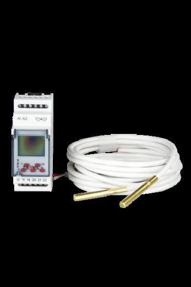 Hőmérséklet szabályzó relé, 5-95°C, 230V AC, RTM-30/S