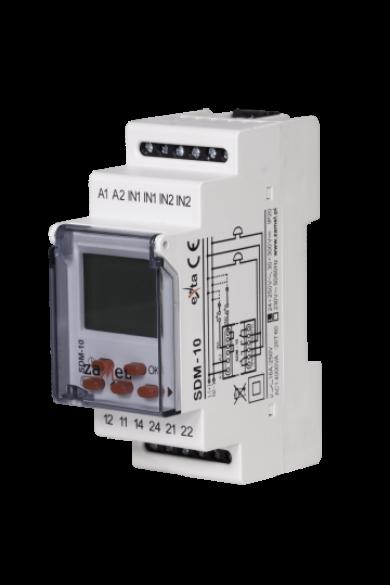 Időrelé, iskolacsengő vezérlő, 24-250V AC / 30-300V DC, SDM-10/U