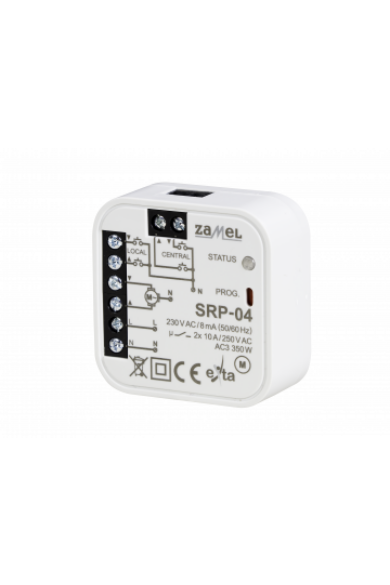 Redőnyvezérlő, beépíthető, 230V AC, SRP-04