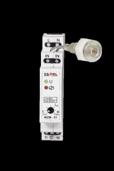Alkonykapcsoló érzékelővel, DIN sínre szerelhető, IP20, 230V AC, WZM-01/S1