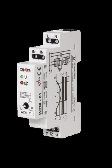 Alkonykapcsoló, DIN sínre szerelhető, IP20, 230V AC, WZM-01