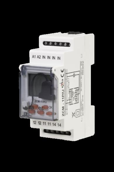Digitális időkapcsoló, 1 csatornás, 24-250V AC / 30-300V DC, ZCM-11P/U
