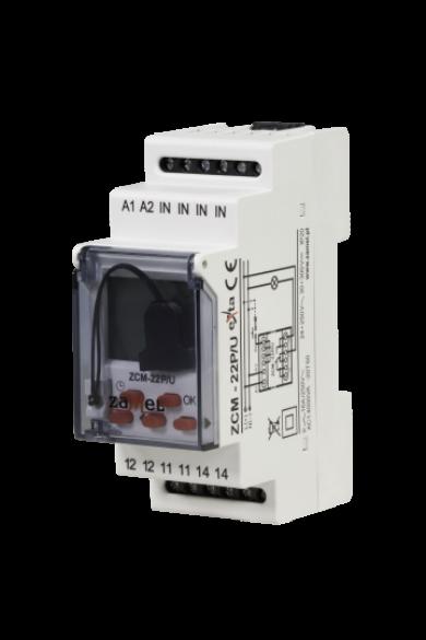 Digitális éves időkapcsoló, 1 csatornás, külső memória, 24-250V AC / 30-300V DC, ZCM-22P/U