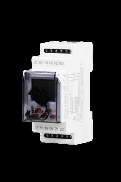 Digitális csillagászati időkapcsoló, 2 csatornás, külső memóriával, 24-250V AC / 30-300V DC, ZCM-32P/U