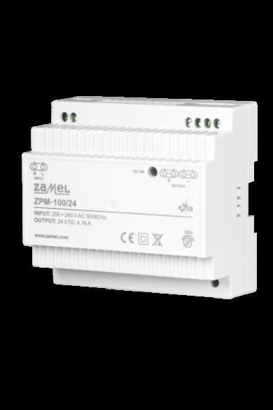 Kapcsolóüzemű tápegység, 24V DC, 100W, 4,16A, ZPM-100/24