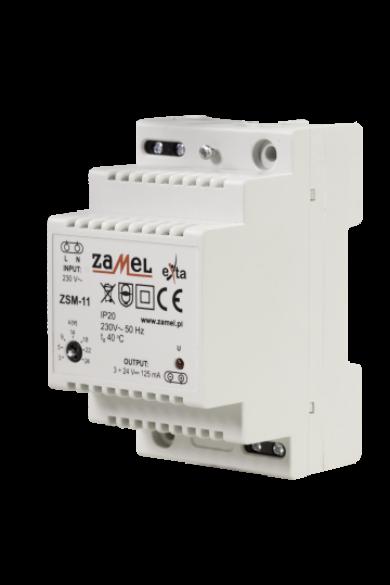 Stabilizált tápegység, 3-24V DC, 0,125A, ZSM-11
