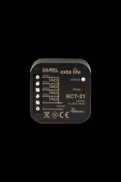 EXTA LIFE hőmérséklet érzékelő, dobozba, 4xNTC-03 vezetekhez, 12V DC, RCT-21