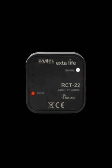 EXTA LIFE hőmérséklet érzékelő, beépített hőérzékelővel, elemes (CR2032), RCT-22