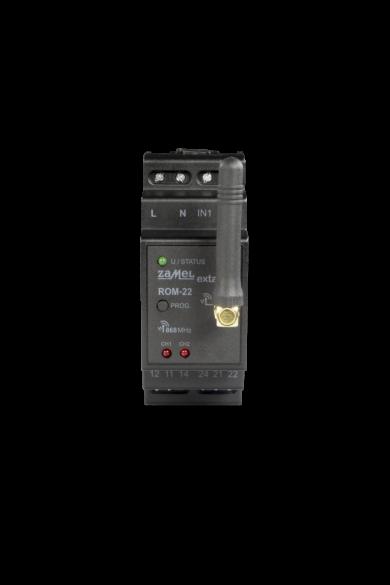 EXTA LIFE moduláris 2 csatornás vevőegység, 10A 2500VA, 230V, ROM-22