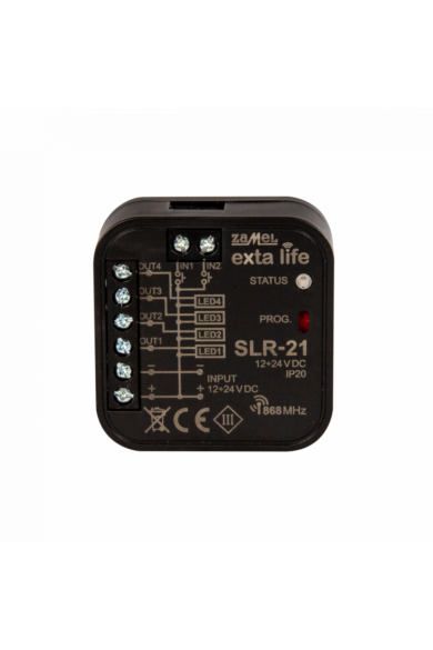 EXTA LIFE 4 csatornás 12-24V DC LED vezérlő, SLR-21