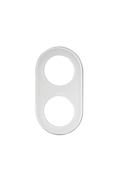 KONEKTO LED dupla üveg keret, kör, fehér, LSR-SBO-X2