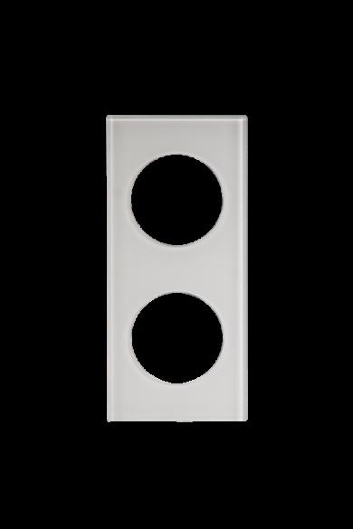 KONEKTO LED dupla üveg keret, négyzet, fehér, LSR-SBK-X2