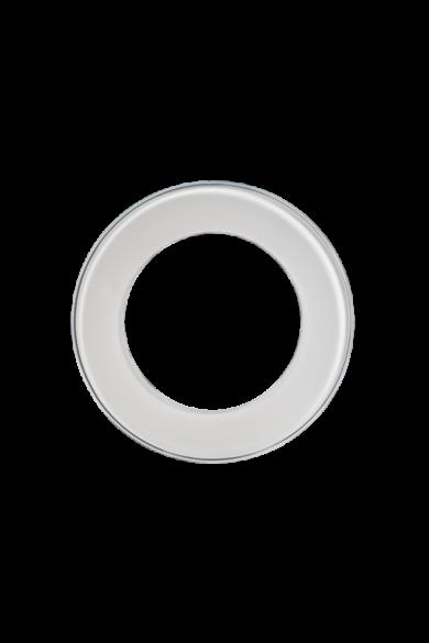 KONEKTO LED szimpla üveg keret, kör, fehér, LSR-SBO-X1