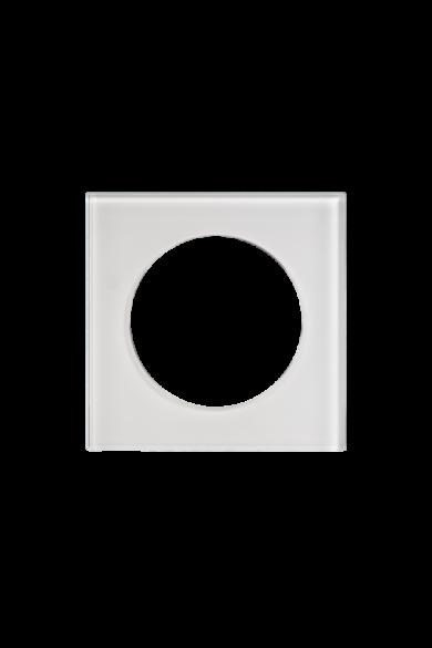 KONEKTO LED szimpla üveg keret, négyzet, fehér, LSR-SBK-X1