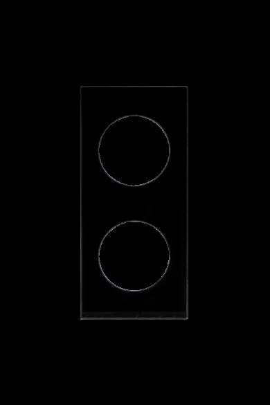 KONEKTO LED dupla üveg keret, négyzet, fekete, LSR-SCK-X2