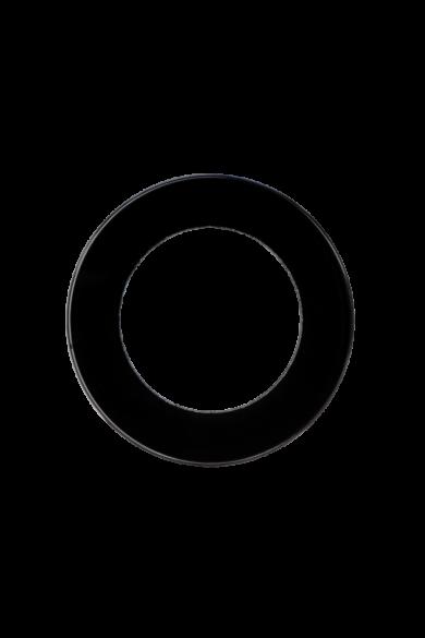 KONEKTO LED szimpla üveg keret, kör, fekete, LSR-SCO-X1
