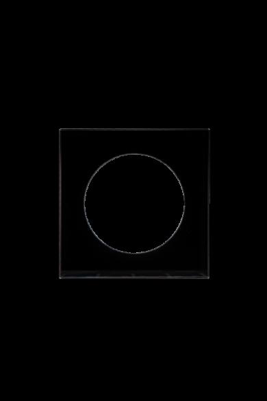 KONEKTO LED szimpla üveg keret, négyzet, fekete, LSR-SCK-X1