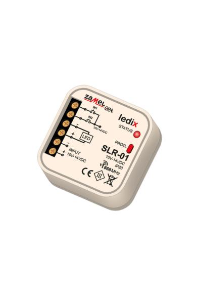 SLR-01, Egyszínű univerzális LED vezérlő, 10-14V, 4A, 1 csatornás, távvezérelhető