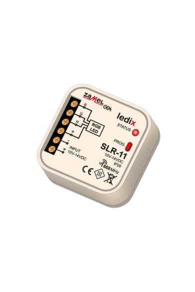 SLR-11, RGB univerzális LED vezérlő, 10-14V, 2,5A, 1 csatornás, távvezérelhető
