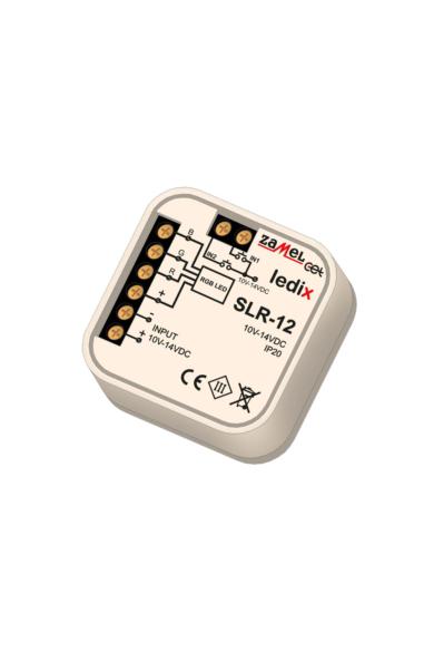 SLR-12, RGB univerzális LED vezérlő, 10-14V, 2,5A, 1 csatornás, távvezérelhető