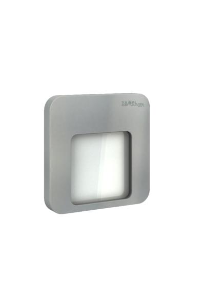 MOZA Ledix, ALU szín, hidegf. 5900K, 230V, IP20, süllyesztett, fényerőszabályozható, 01-224-11