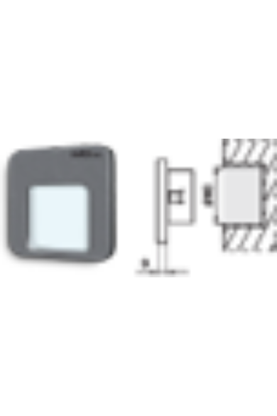 MOZA Ledix, Fekete szín, hidegf. 5900K, 14V, IP20, süllyesztett, fényerőszabályozható, 01-214-61