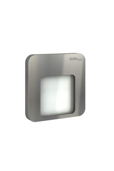 MOZA Ledix, Rozsdamentes szín, hidegf. 5900K, 230V, IP20, süllyesztett, fényerőszabályozható, 01-224-21