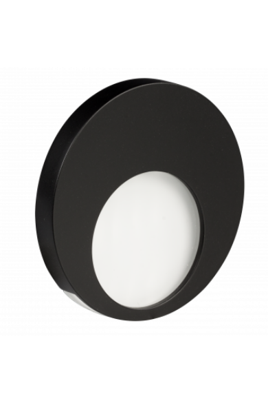 MUNA Ledix, Fekete szín,  hidegf. 5900K, 14V, IP20, mozgásérzékelővel, 02-212-61
