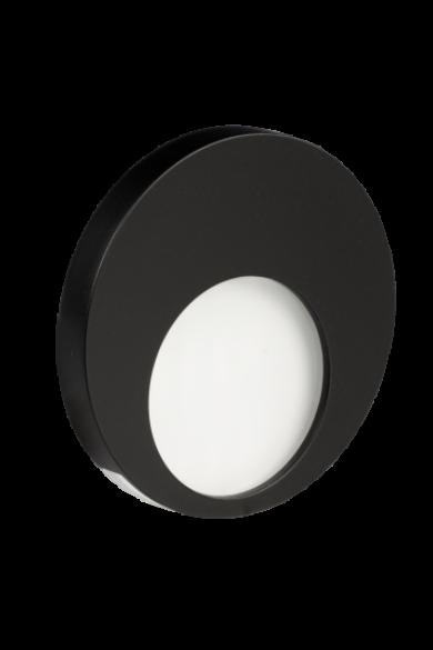 MUNA Ledix, Fekete szín, hidegf. 5900K, 230V, IP20, süllyesztett, fényerőszabályozható, 02-224-61